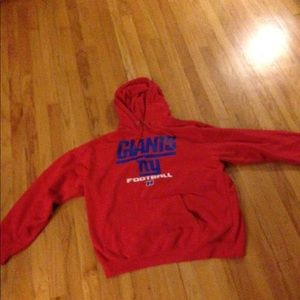 Red NY Giants Hoodie